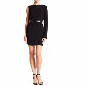 Helmut Lang One Shoulder Crepe Mini Dress *no belt